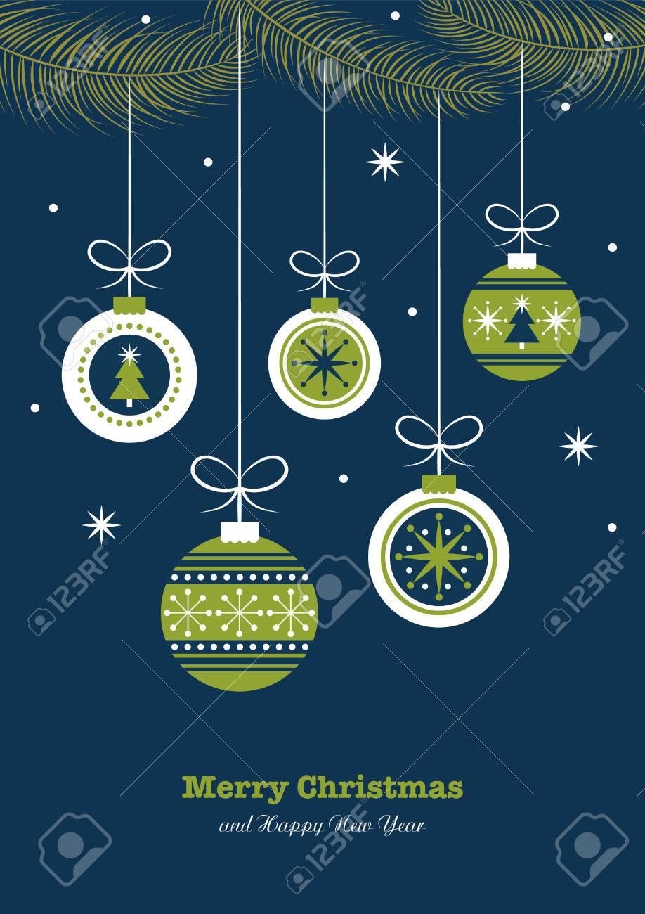 merry christmas card design. vector illustration - 48856858