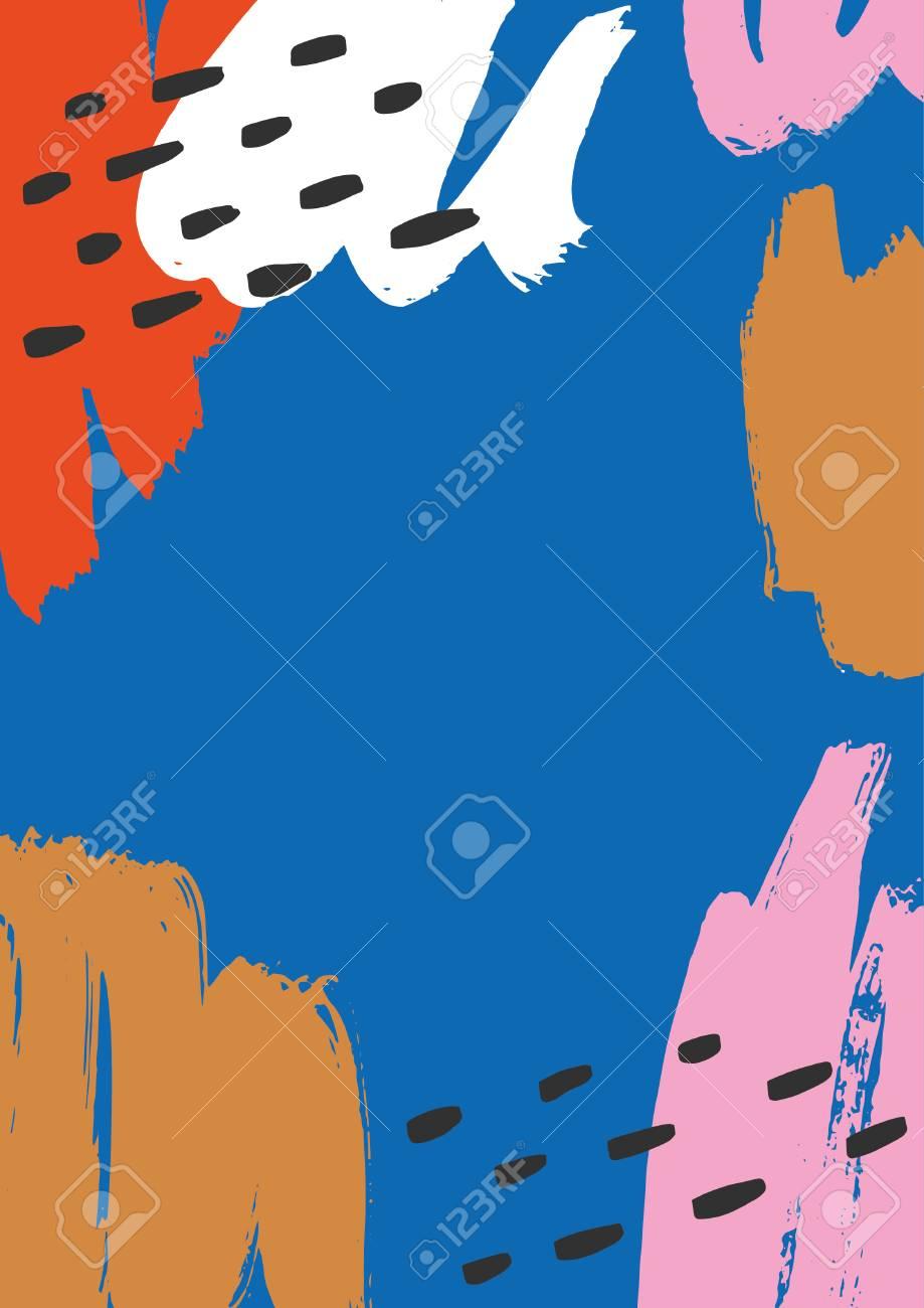 Hand drawn artistic background. Vector illustration. - 88210653