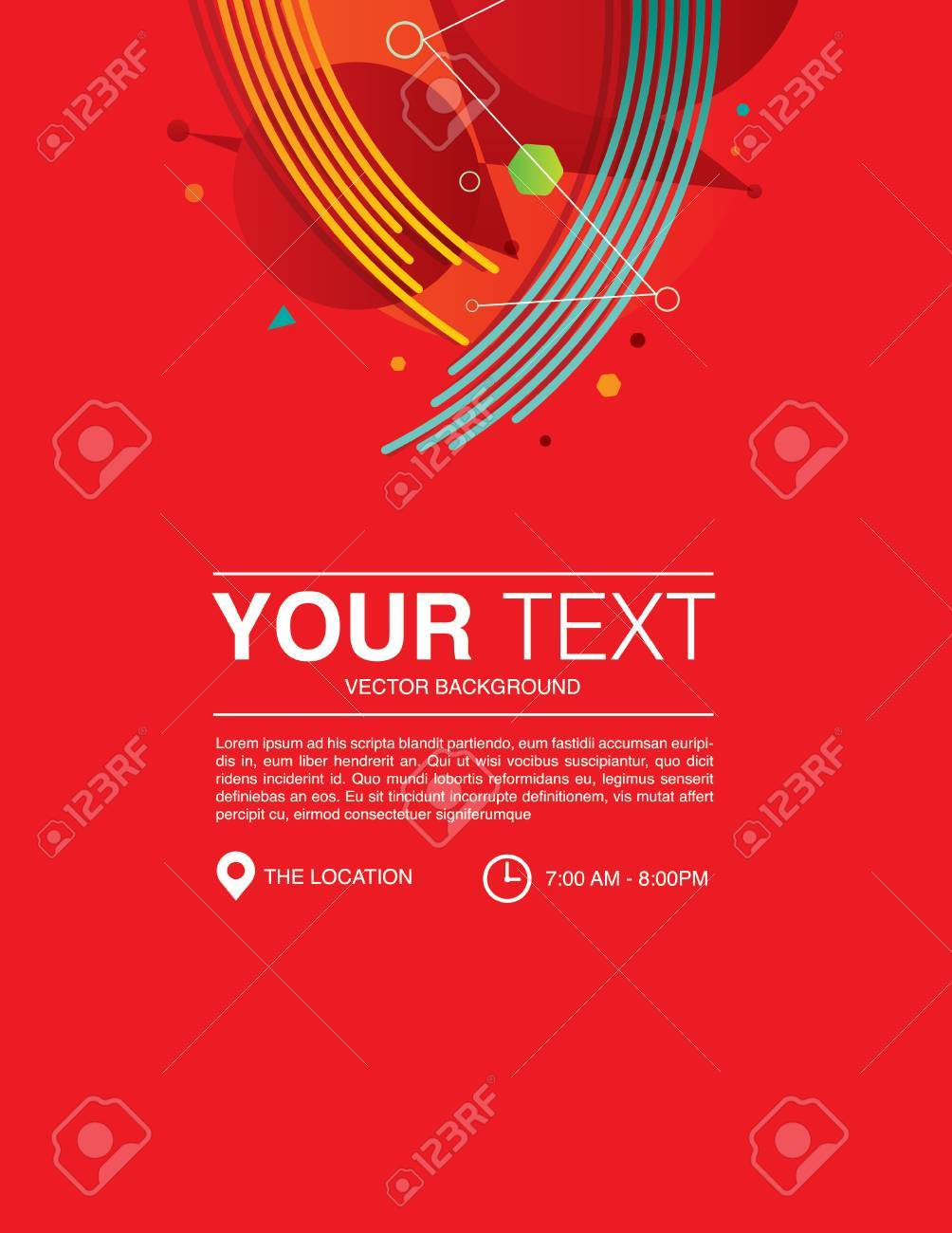 Template Design Background Red