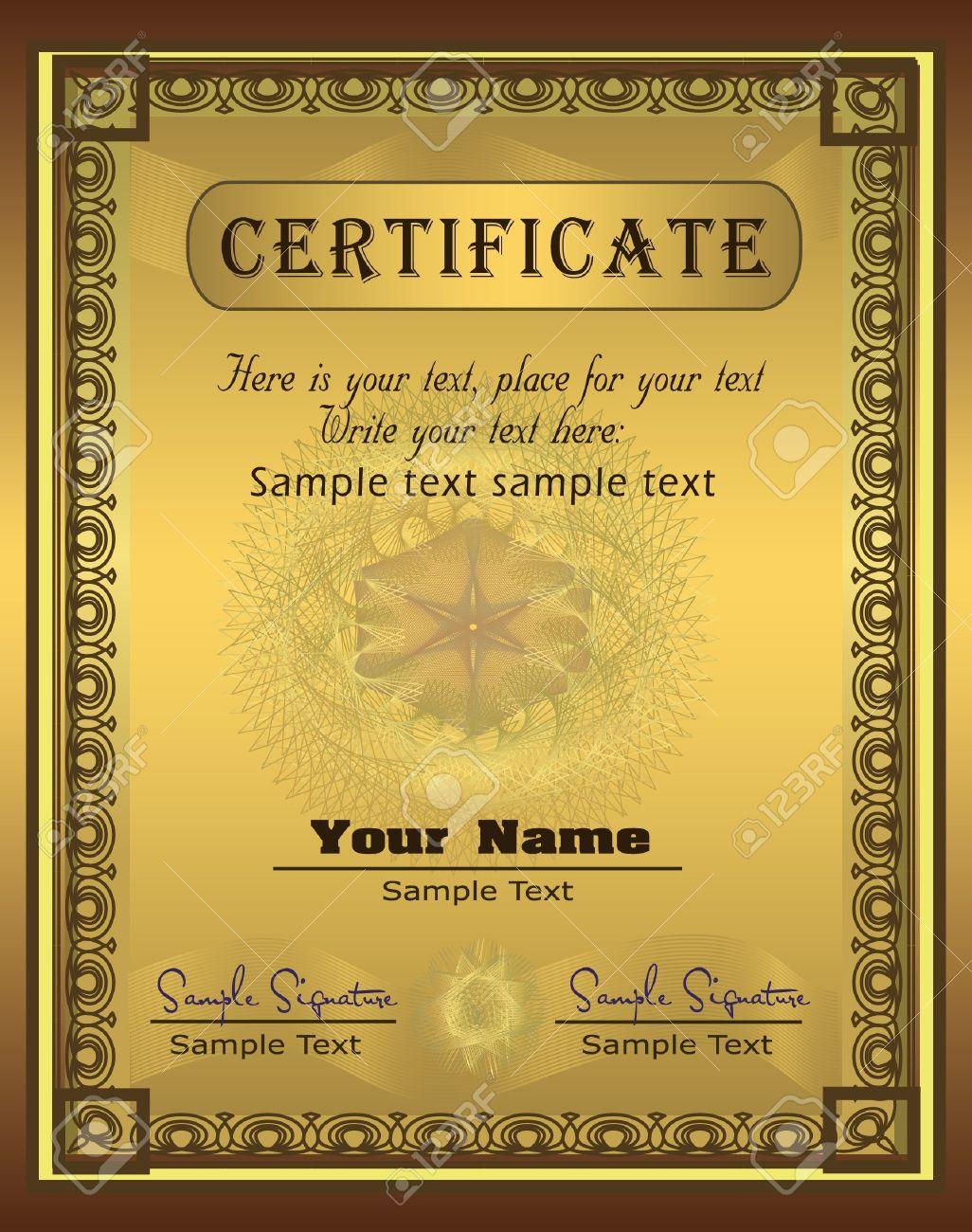 Certificate Gold Vertical vector Stock Vector - 9316276