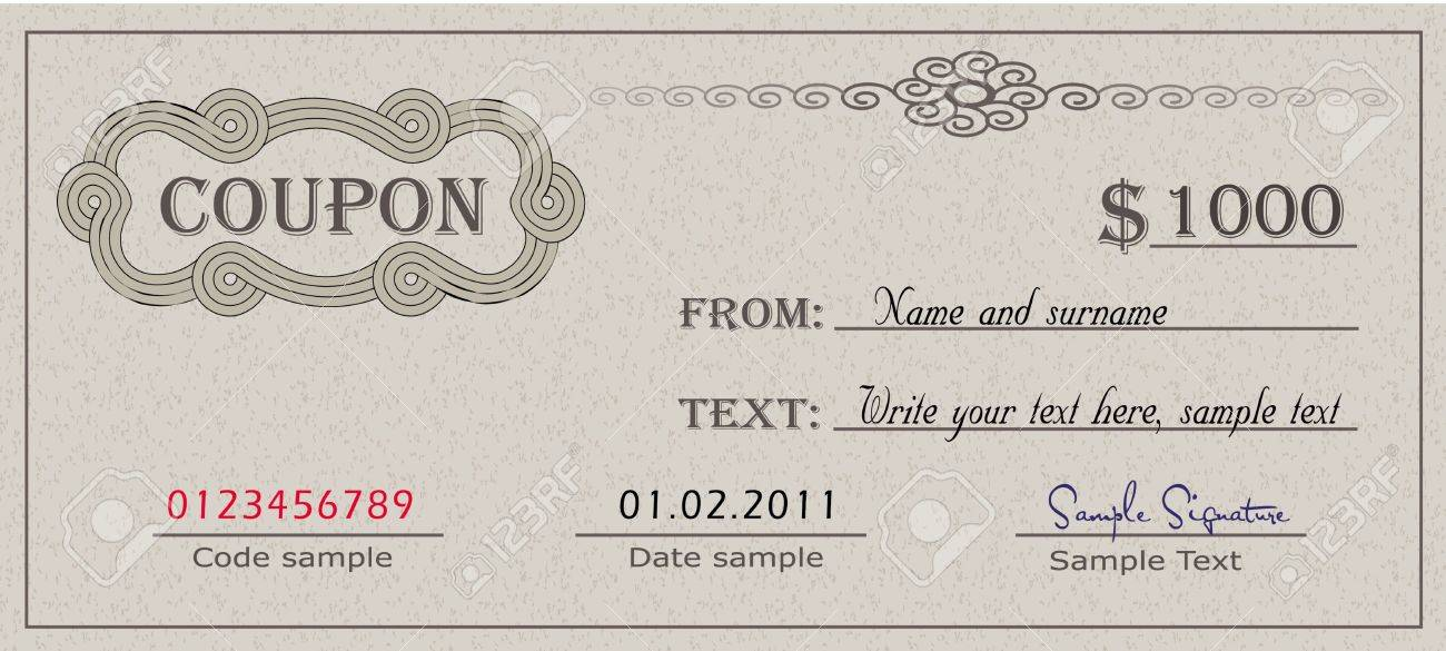 Coupon Template Stock Photos  Pictures Royalty Free Coupon