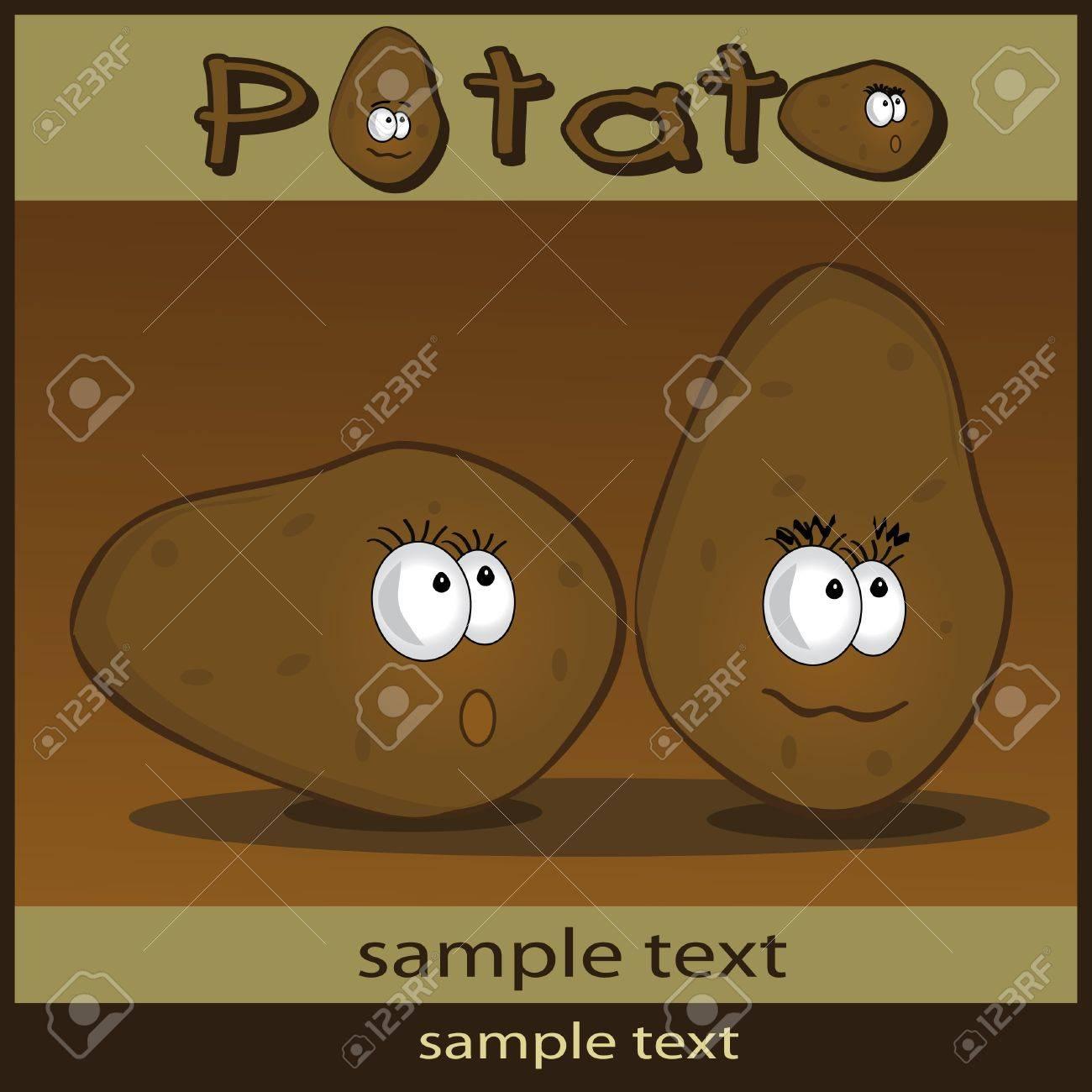 Potato cartoon Stock Vector - 9337327