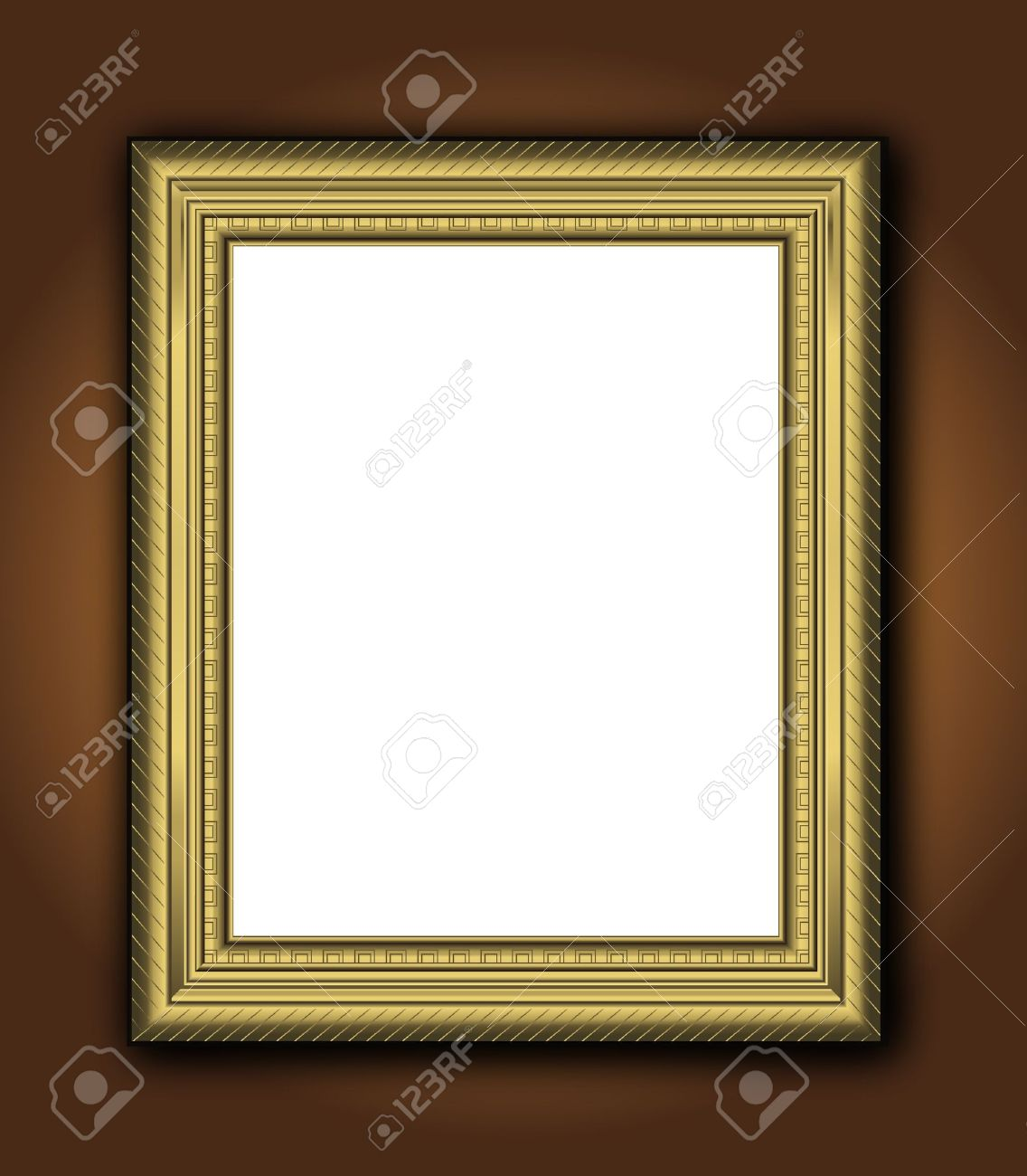 Frame old antique gold Baroque vintage picture classic vector Stock Vector - 9931715