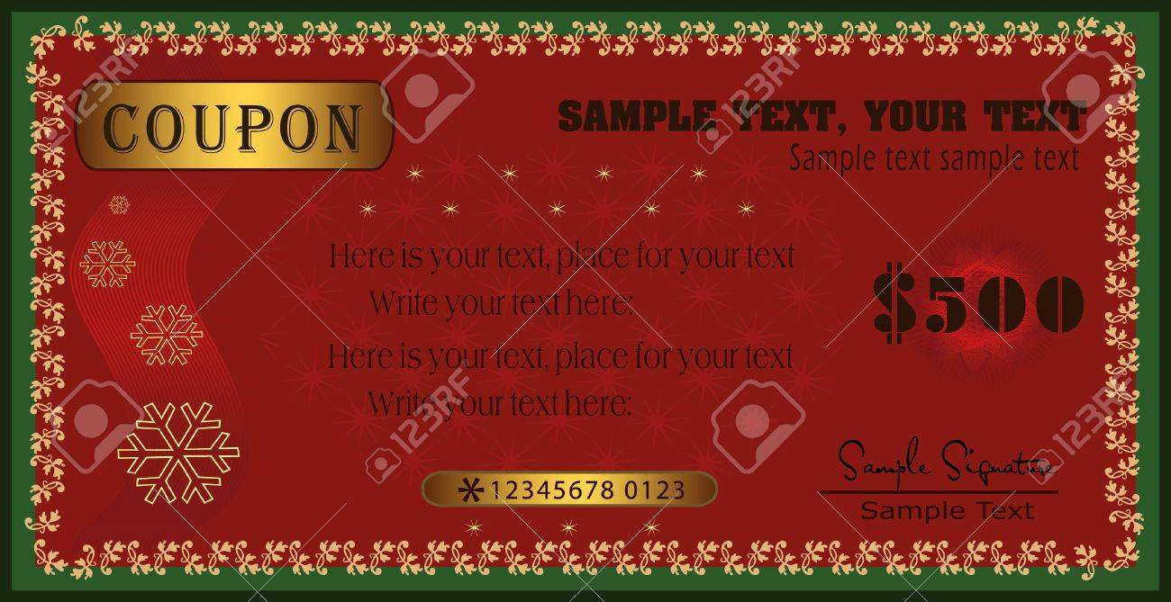 Coupon vector certificate Stock Vector - 10097812