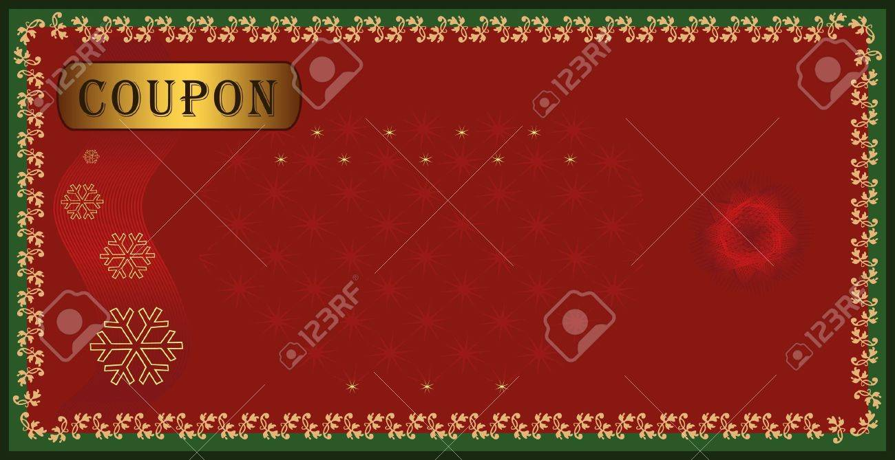 raster coupon certificate holiday merry christmas stock photo stock photo raster coupon certificate holiday merry christmas