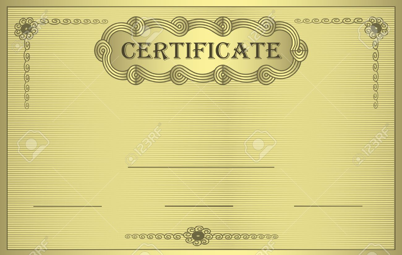Raster certificate gold ornament stock photo picture and royalty raster certificate gold ornament stock photo 10251815 yadclub Images