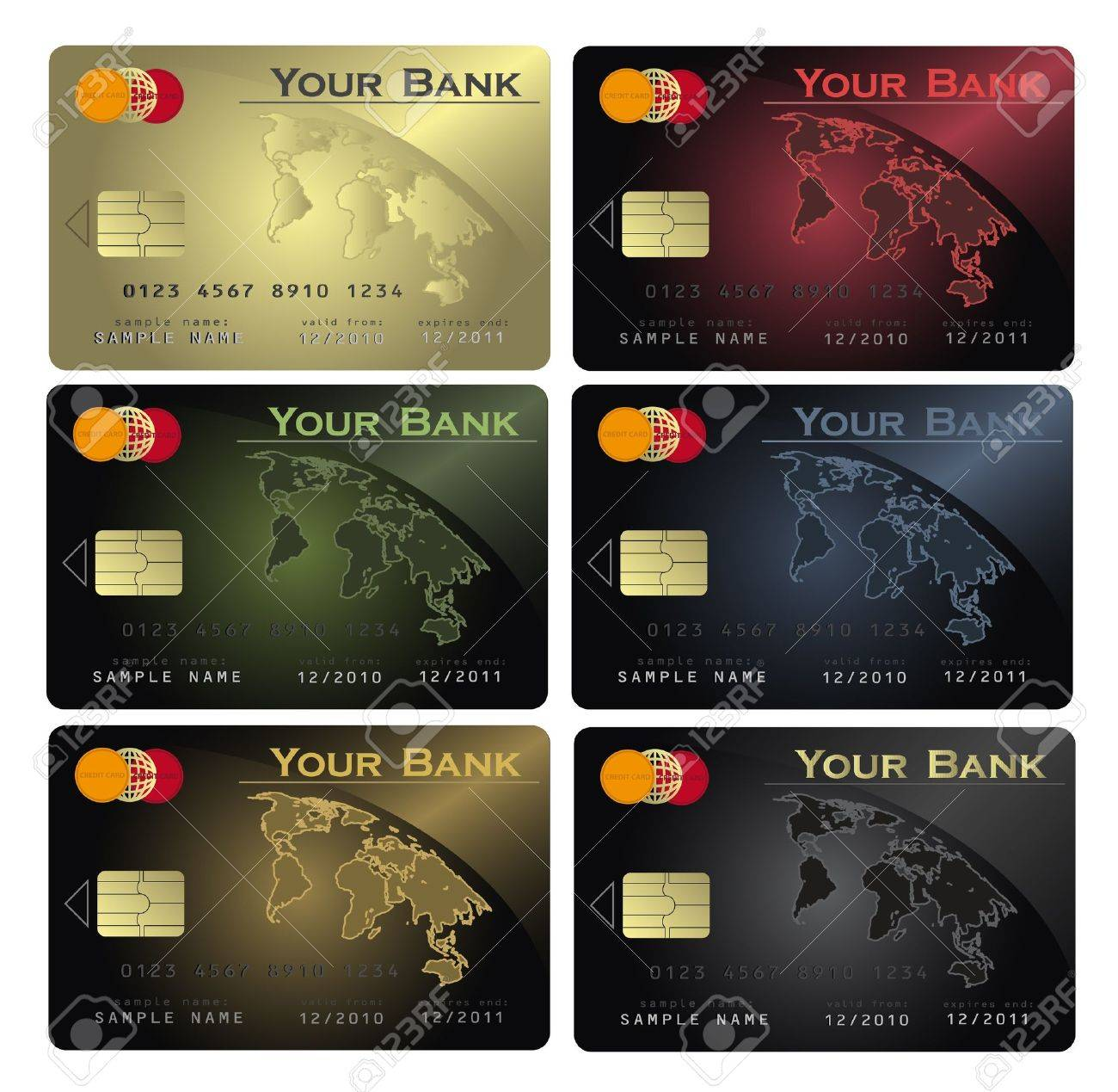 vector Credit card Colors Stock Vector - 11808444