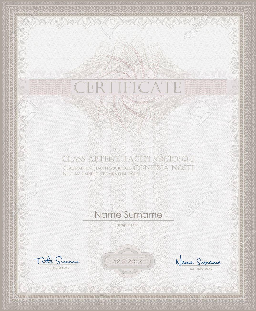 vector Certificate Guilloche template security spirograph Stock Vector - 12208886