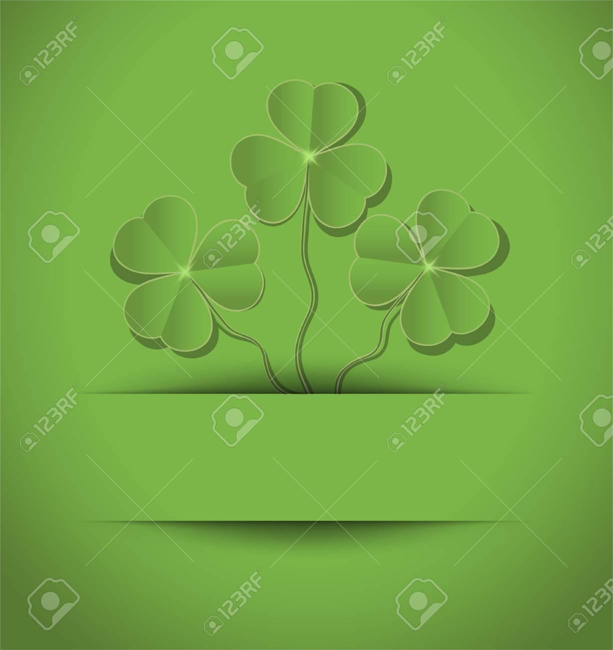raster St. Patrick Day Shamrock card green Stock Photo - 12208878