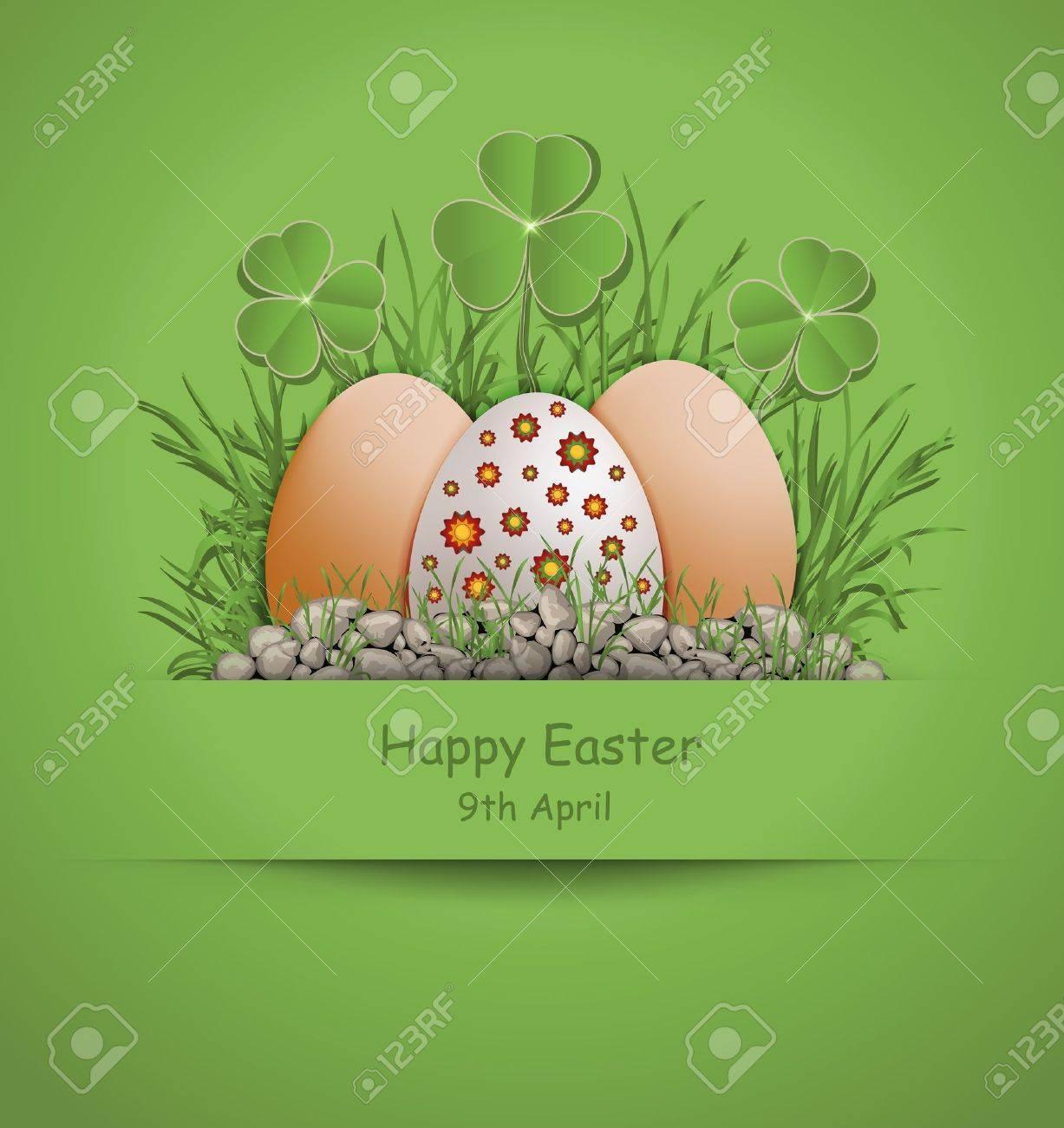 Easter Egg green Stock Vector - 12492124