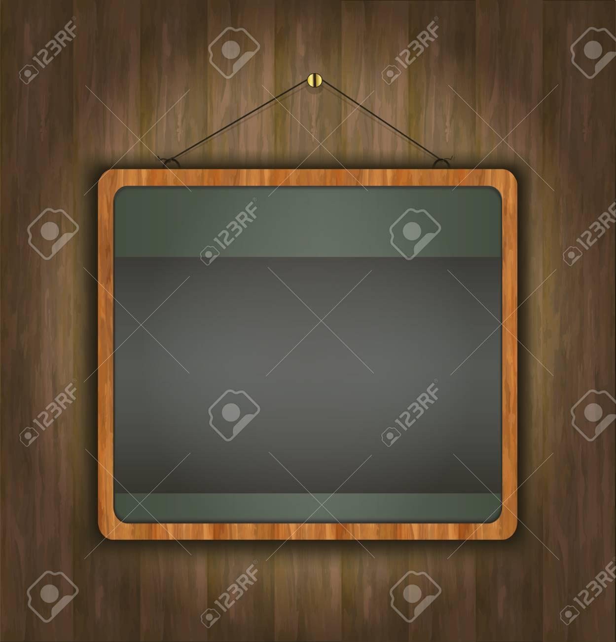 blackboard wood frame green Stock Vector - 14030813