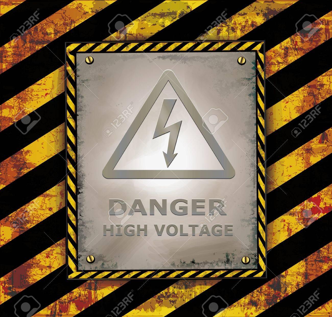 blackboard sign caution banner Stock Vector - 19118222
