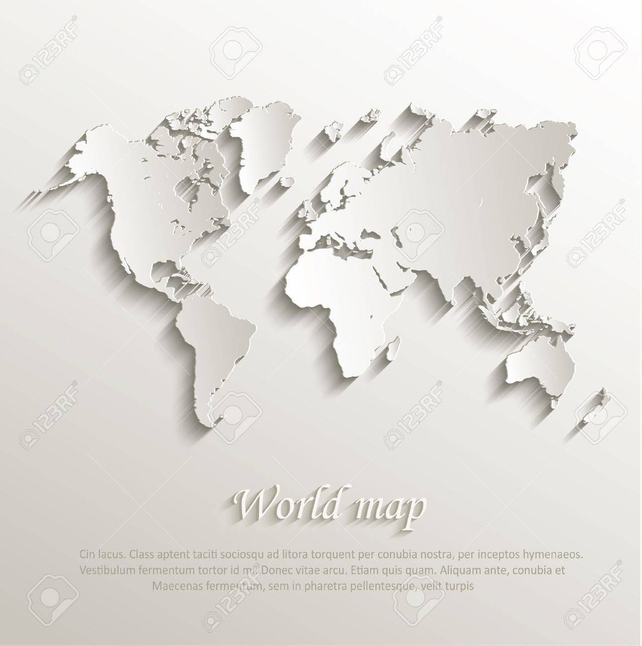 World map card paper 3d nature royalty free cliparts vectors and vector world map card paper 3d nature gumiabroncs Image collections