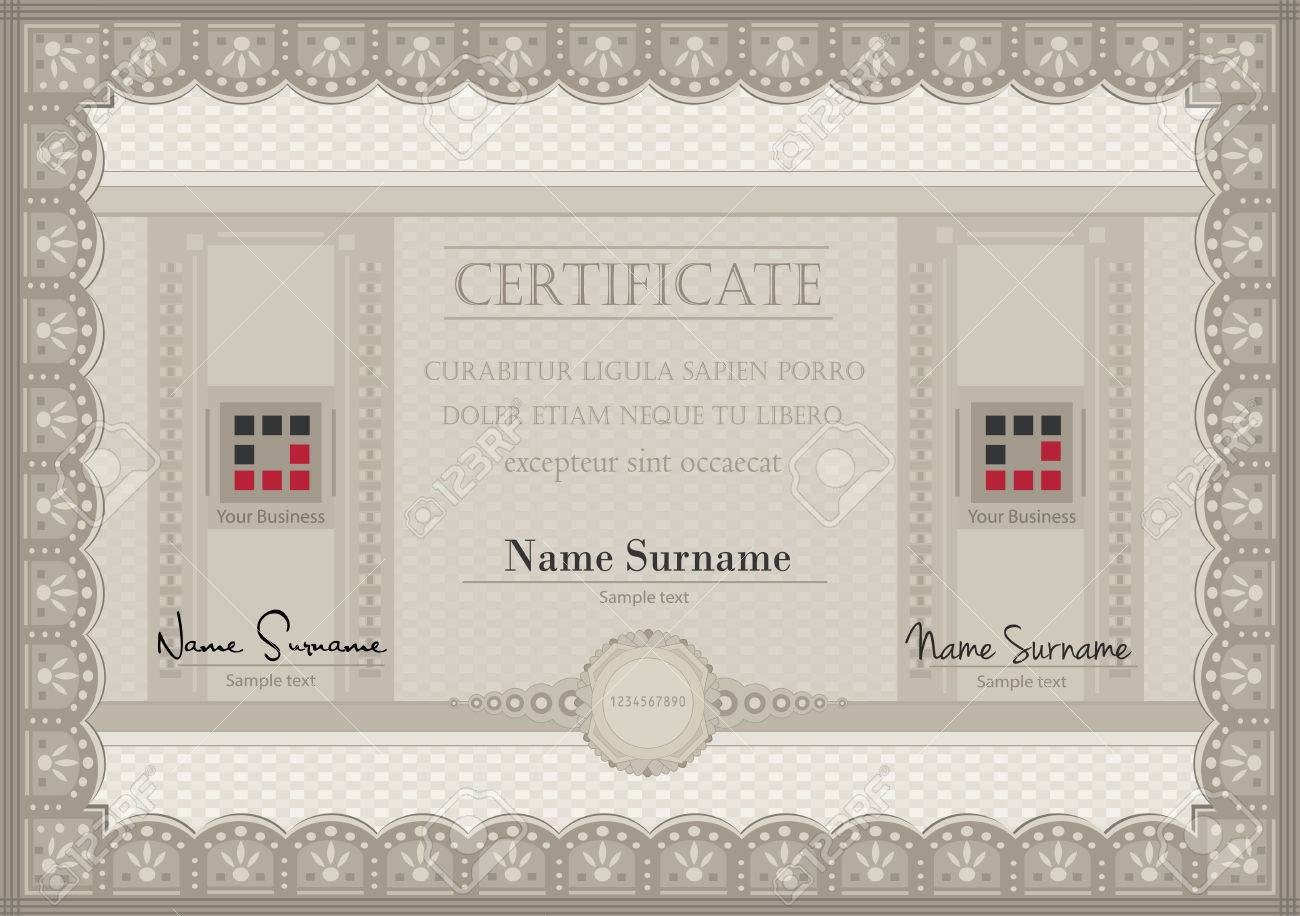 vector Certificate voucher coupon paper A4 Stock Vector - 23297267