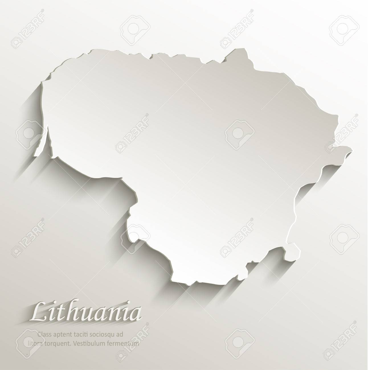 Lithuania Map Card Paper D Royalty Free Cliparts Vectors And - Lithuania map vector