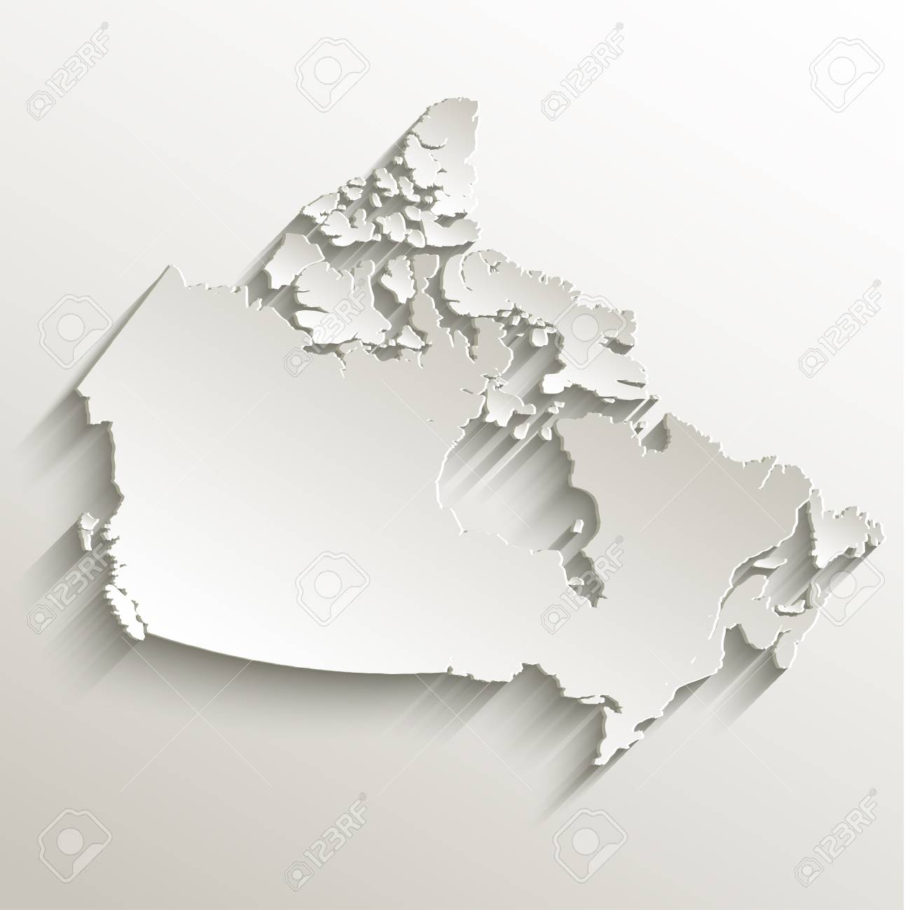 Picture of: Canada Map Card Paper 3d Natural Raster Blank Stock Photo Picture And Royalty Free Image Image 26038628