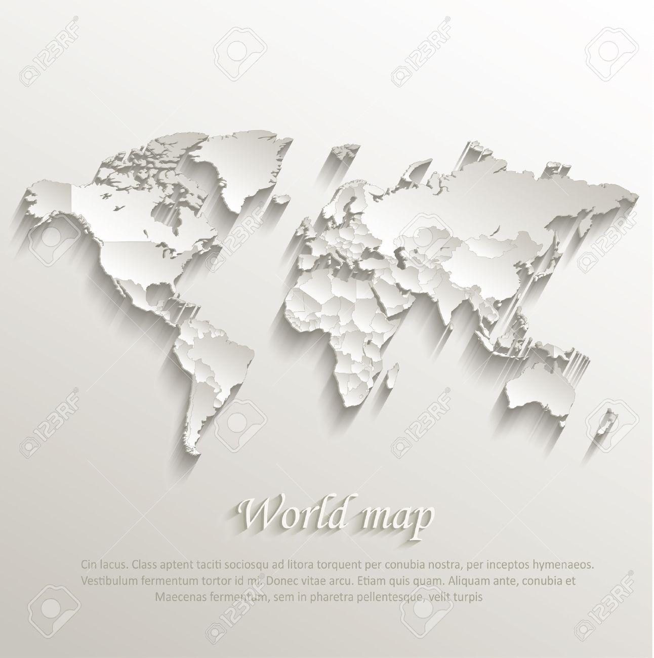 World political map card paper 3d natural vector individual states vector world political map card paper 3d natural vector individual states separate gumiabroncs Choice Image