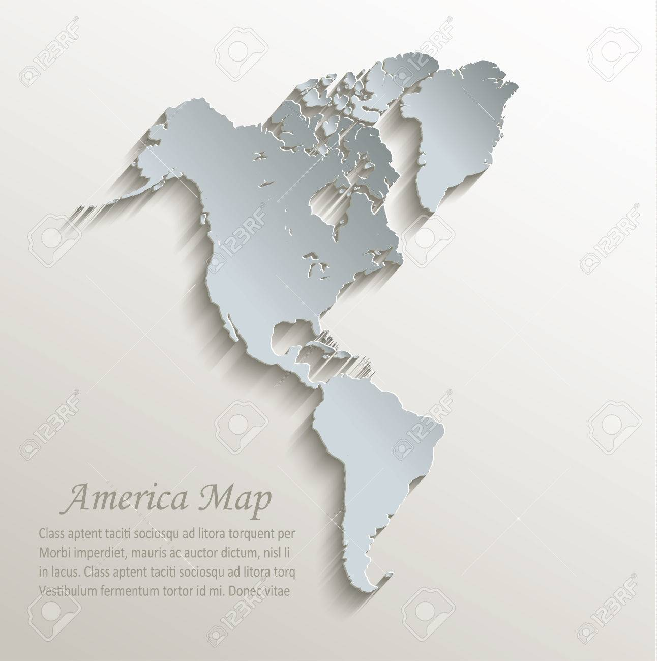 American Map Vector.American Map White Blue Card Paper 3d Vector Royalty Free Cliparts
