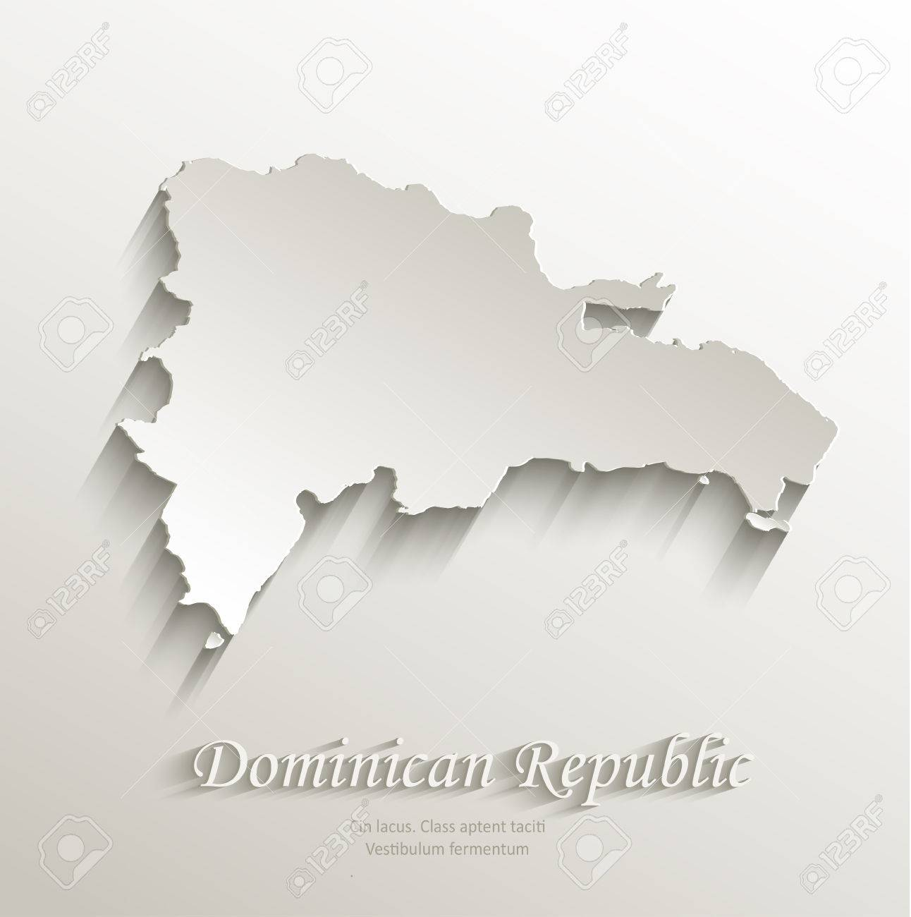 Dominican Republic Map Card Paper D Natural Vector Royalty Free - Dominican republic map vector
