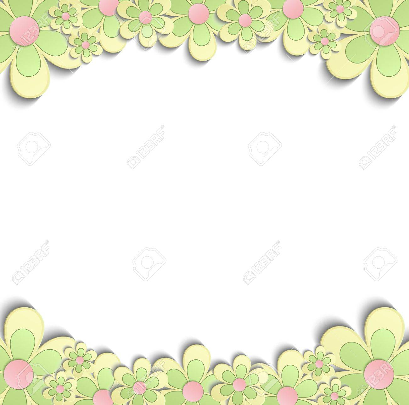 Spring flowers border 3d yellow green pink royalty free cliparts spring flowers border 3d yellow green pink stock vector 55483385 mightylinksfo