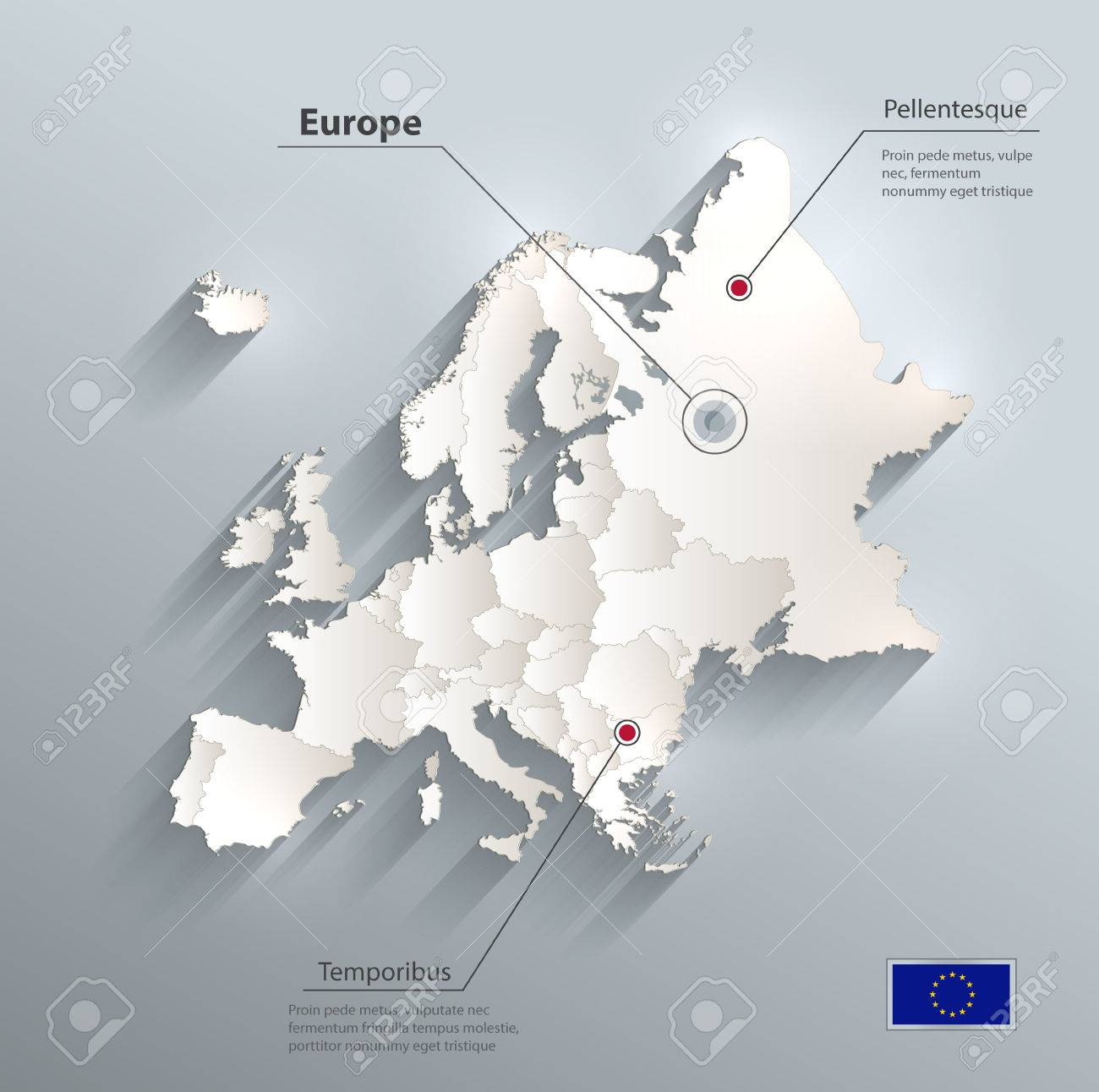 Europe political map flag 3d royalty free cliparts vectors and europe political map flag 3d stock vector 60232376 gumiabroncs Images