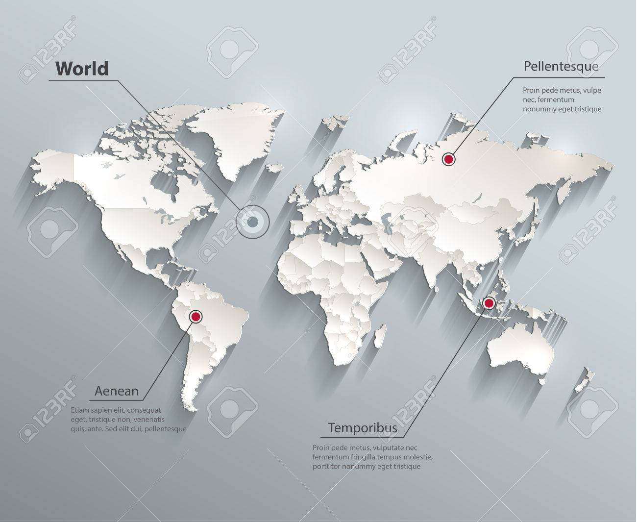 World political map 3d royalty free cliparts vectors and stock vector world political map 3d gumiabroncs Images