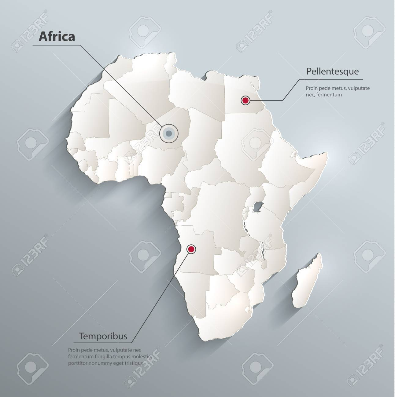 Africa political map 3d royalty free cliparts vectors and stock africa political map 3d stock vector 60232371 ccuart Gallery