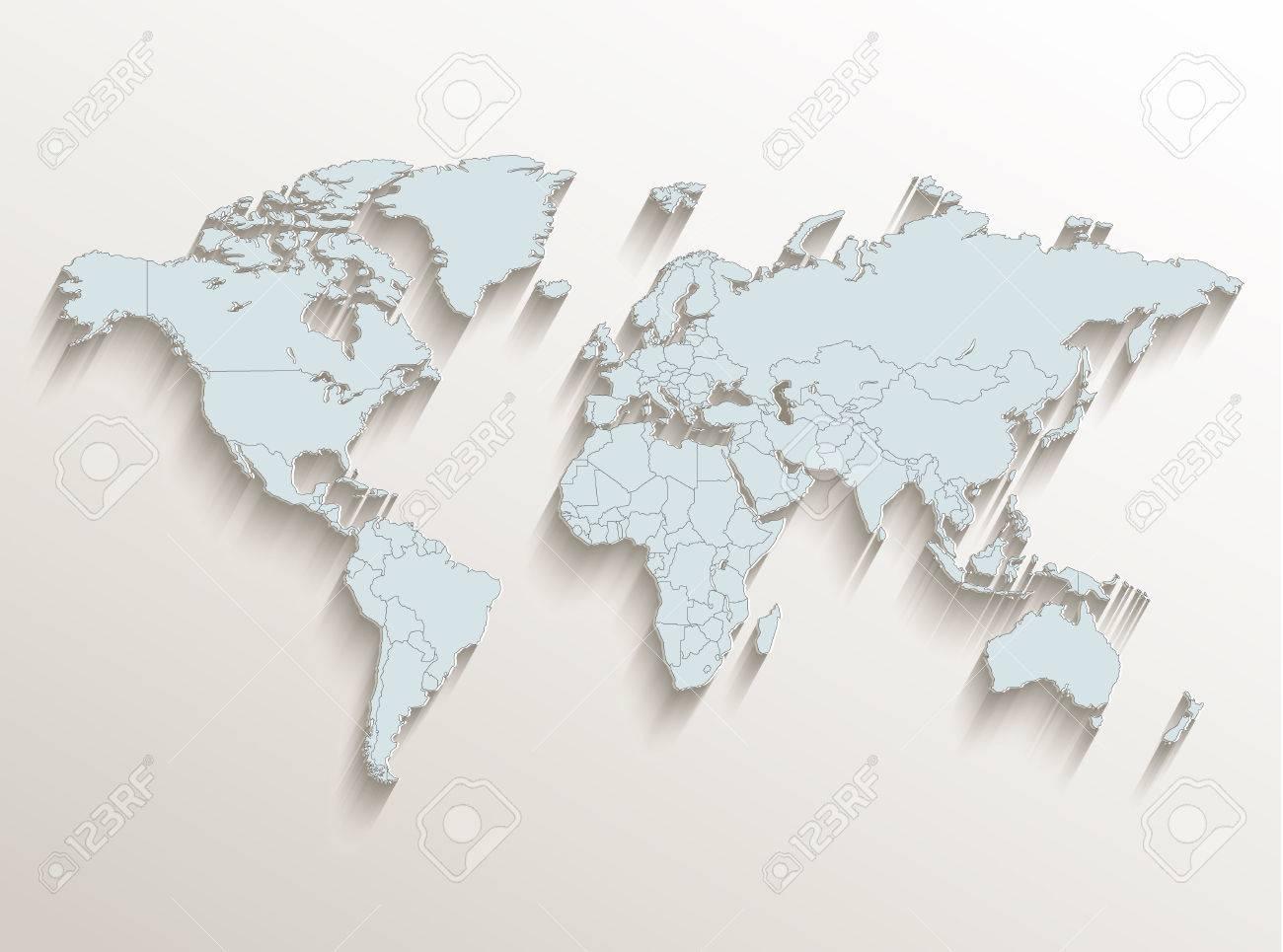 World political map white blue 3d raster stock photo picture and stock photo world political map white blue 3d raster gumiabroncs Choice Image