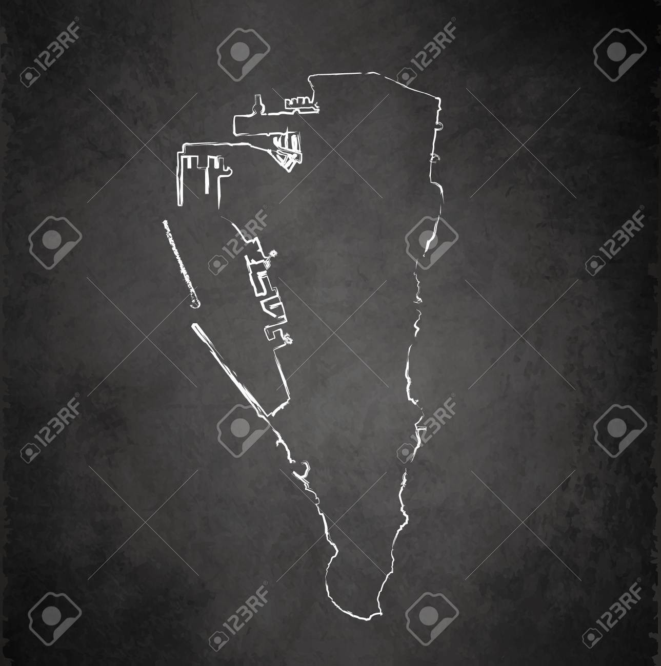 gibraltar maps blackboard chalkboard raster stock photo picture and
