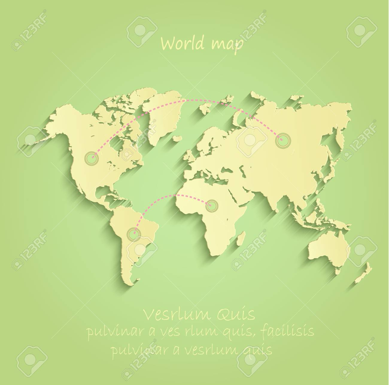 World map green yellow vector infographic royalty free cliparts vector world map green yellow vector infographic gumiabroncs Images