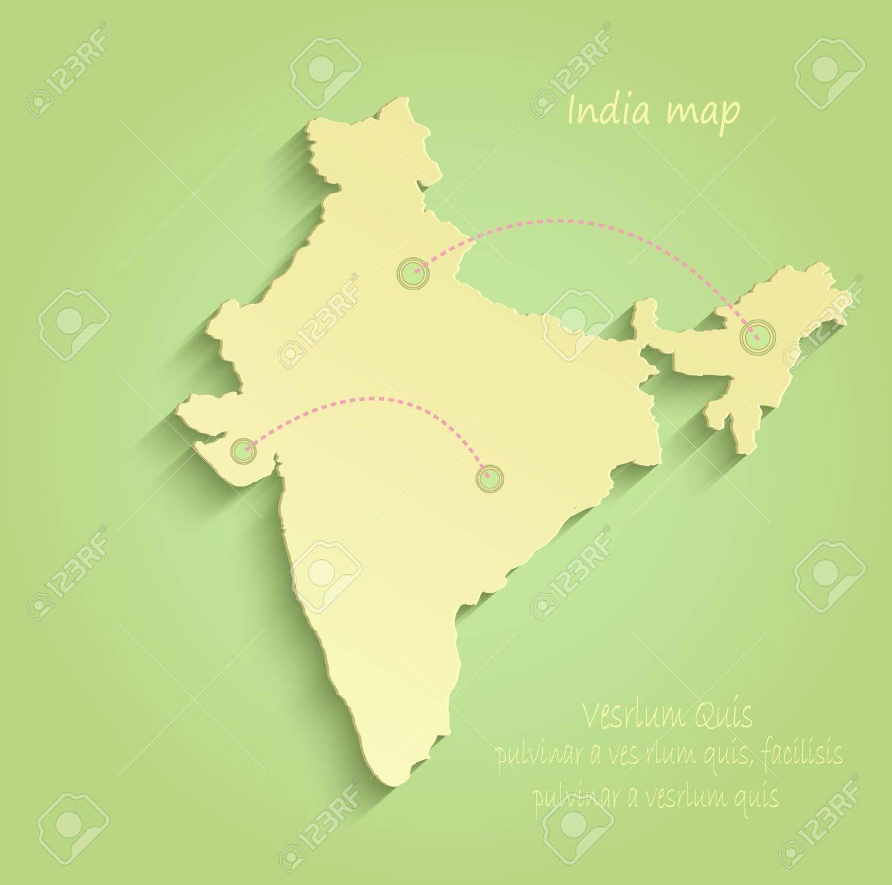 India green yellow vector maps - 71633416
