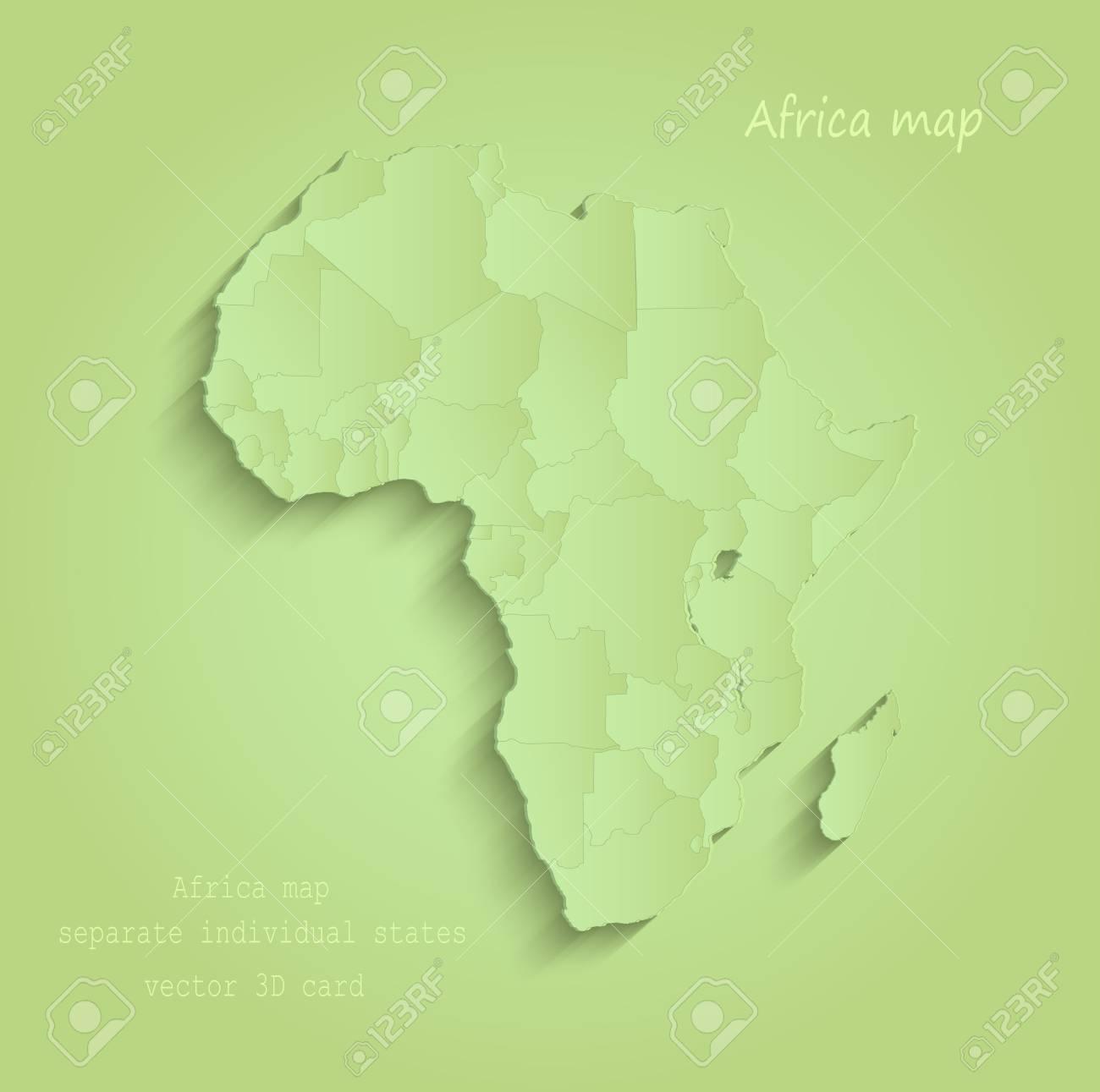 Afrika Karte Staaten.Stock Photo