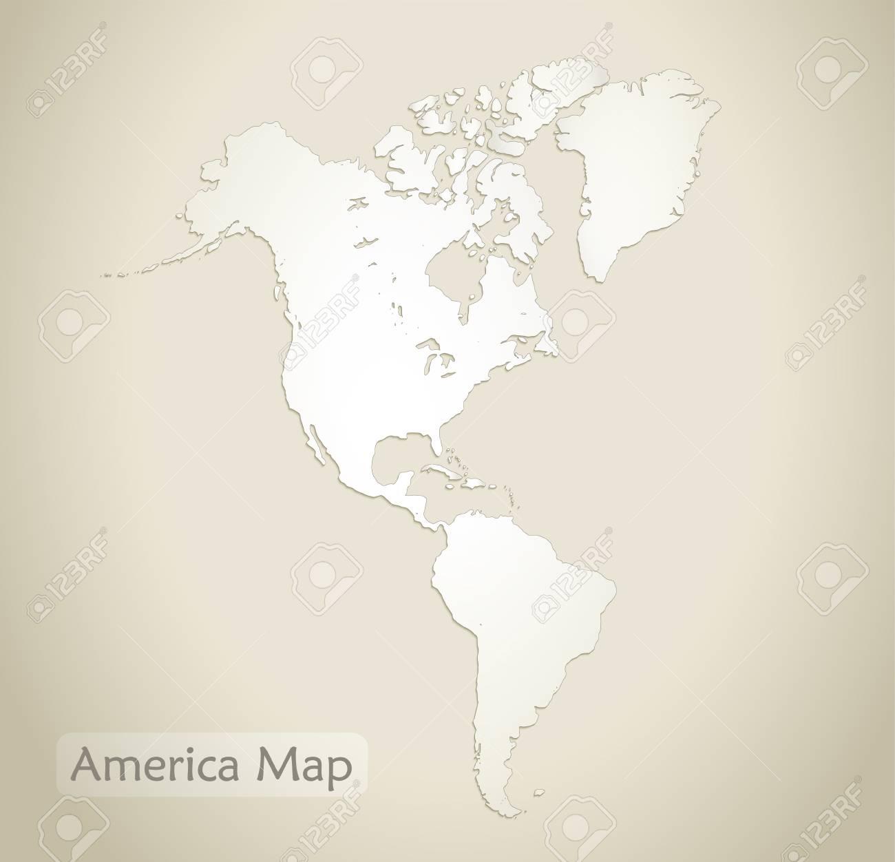 America Map Old Paper Background Vector Lizenzfrei Nutzbare ...