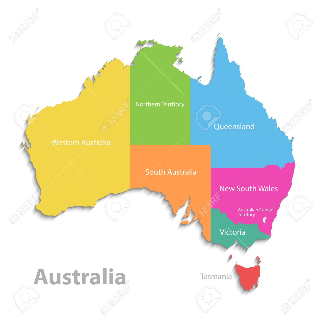 Detailed Map Of Australia.Australia Map New Political Detailed Map Separate Individual