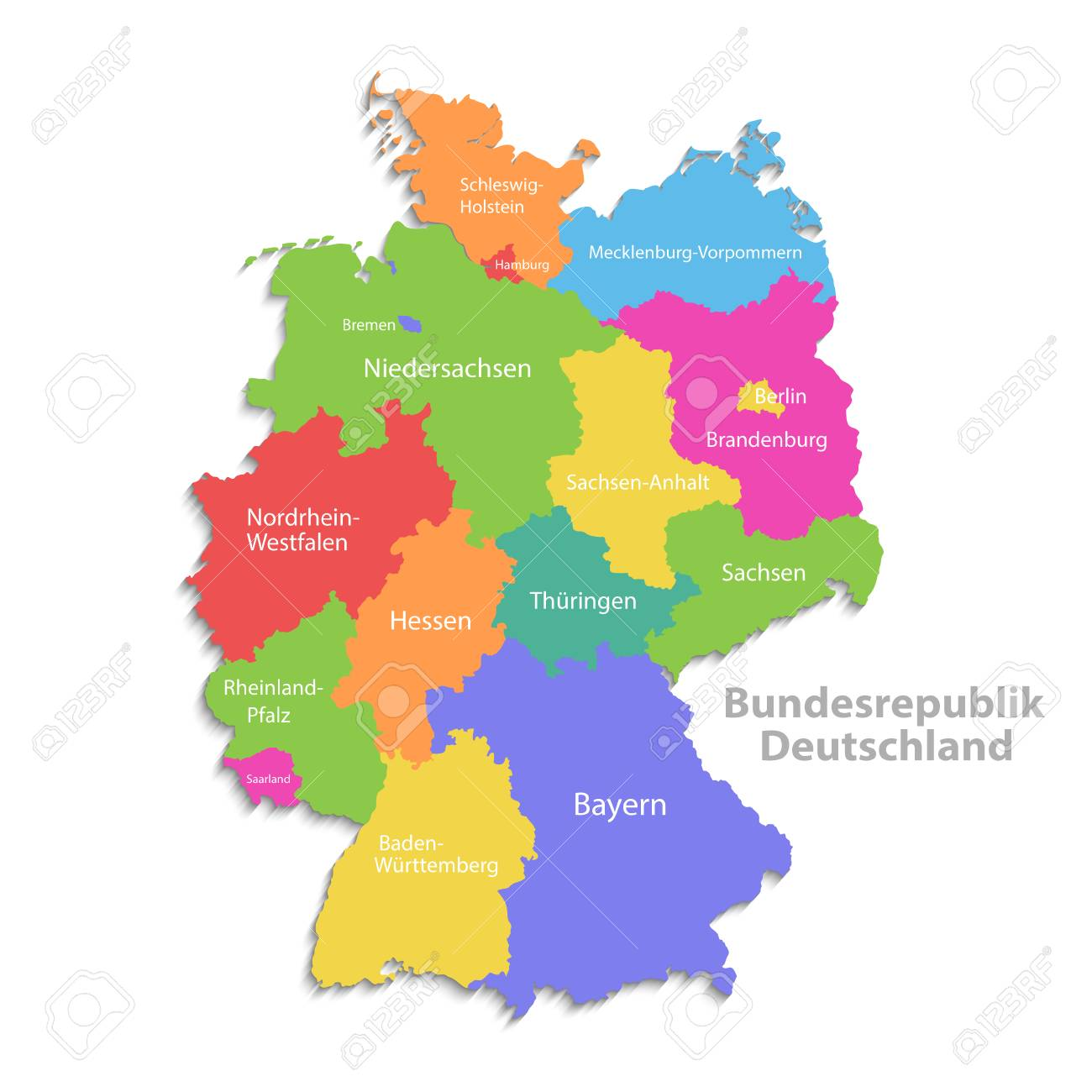 Detailed Map Of Germany.Germany Map New Political Detailed Map Separate Individual