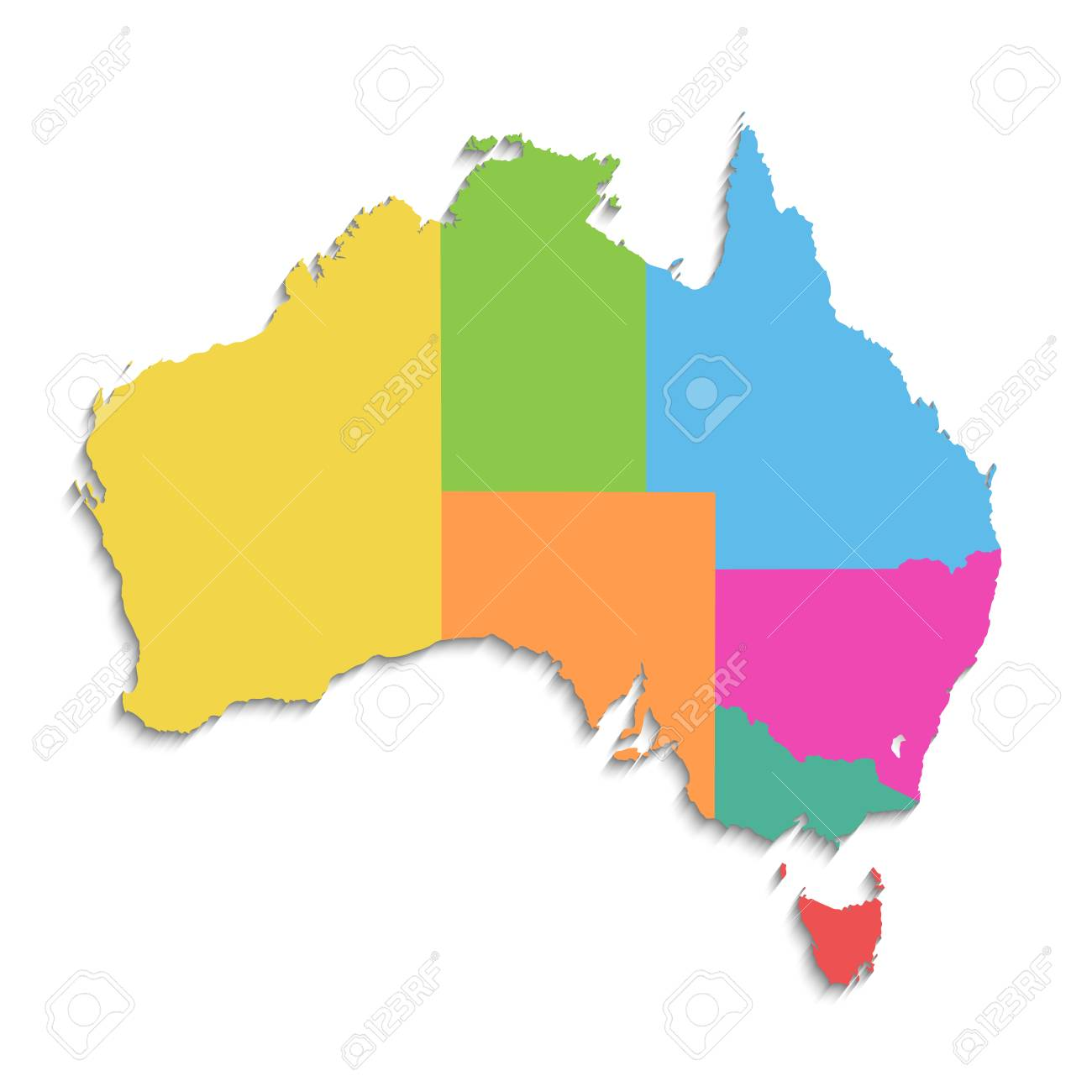 Australia Map And States.Australia Map New Political Detailed Map Separate Individual