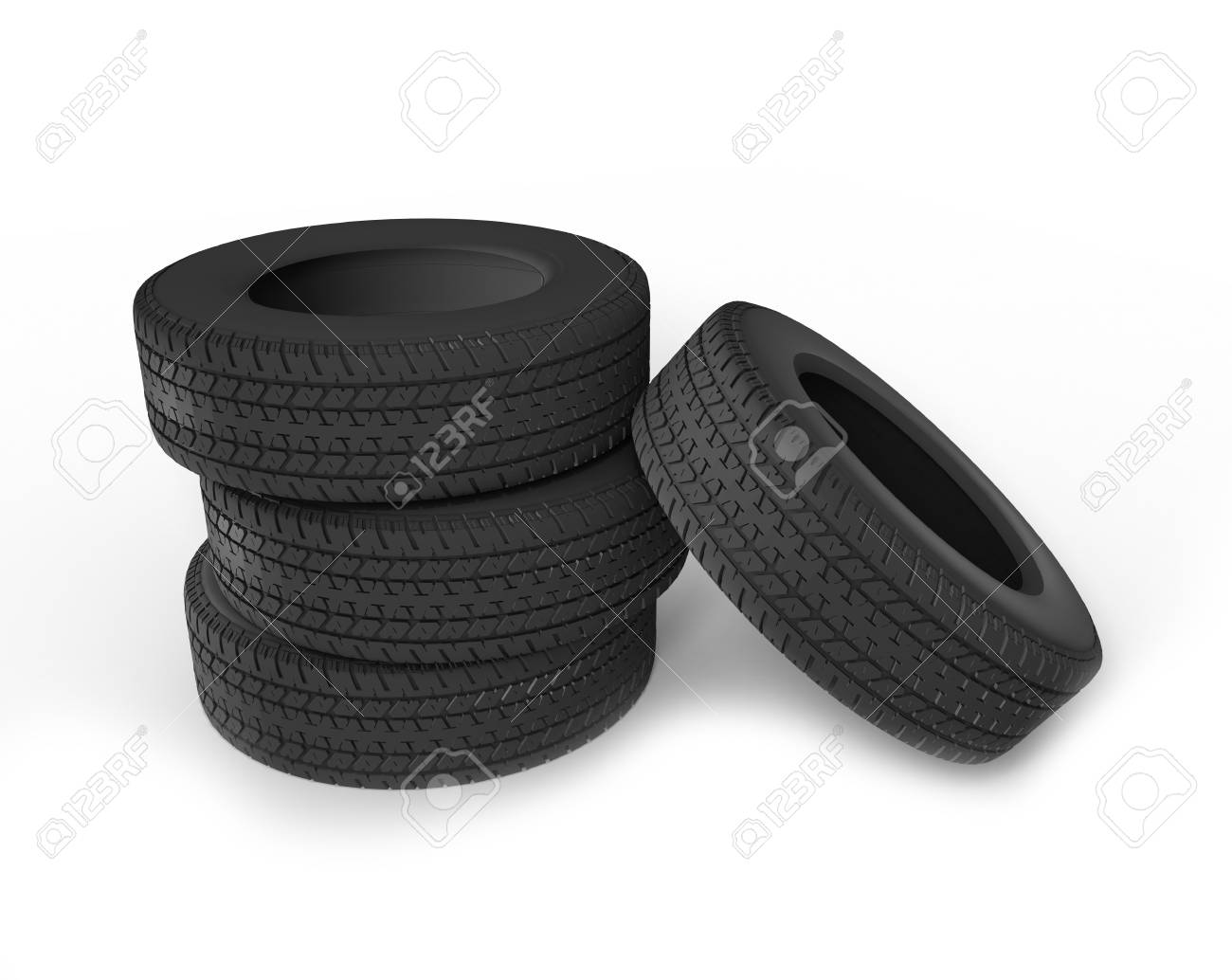 Stack Of Car Tires Stock Photo - 14408505