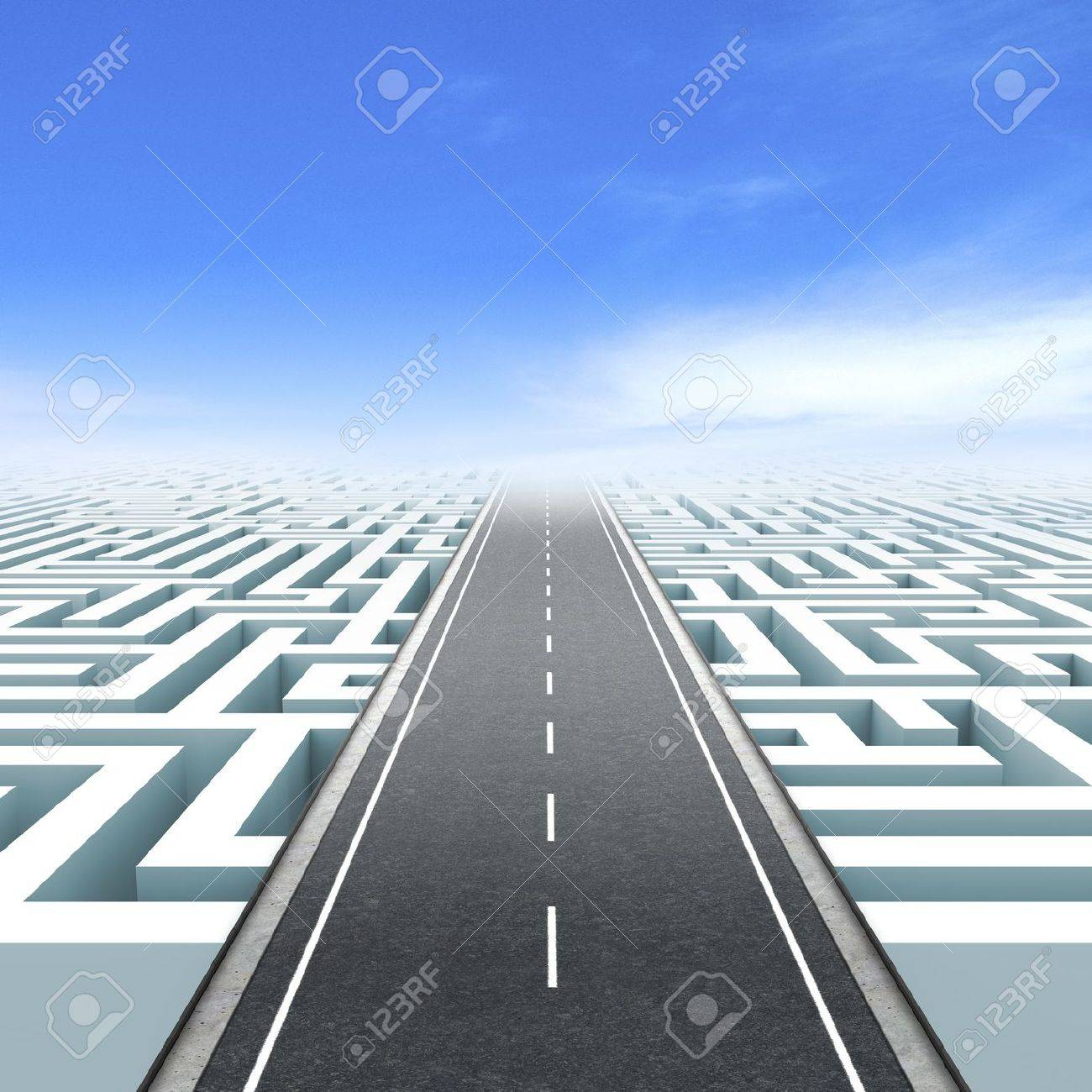 Leadership and business vision with strategy in corporate challenges  Road to success Stock Photo - 15712339