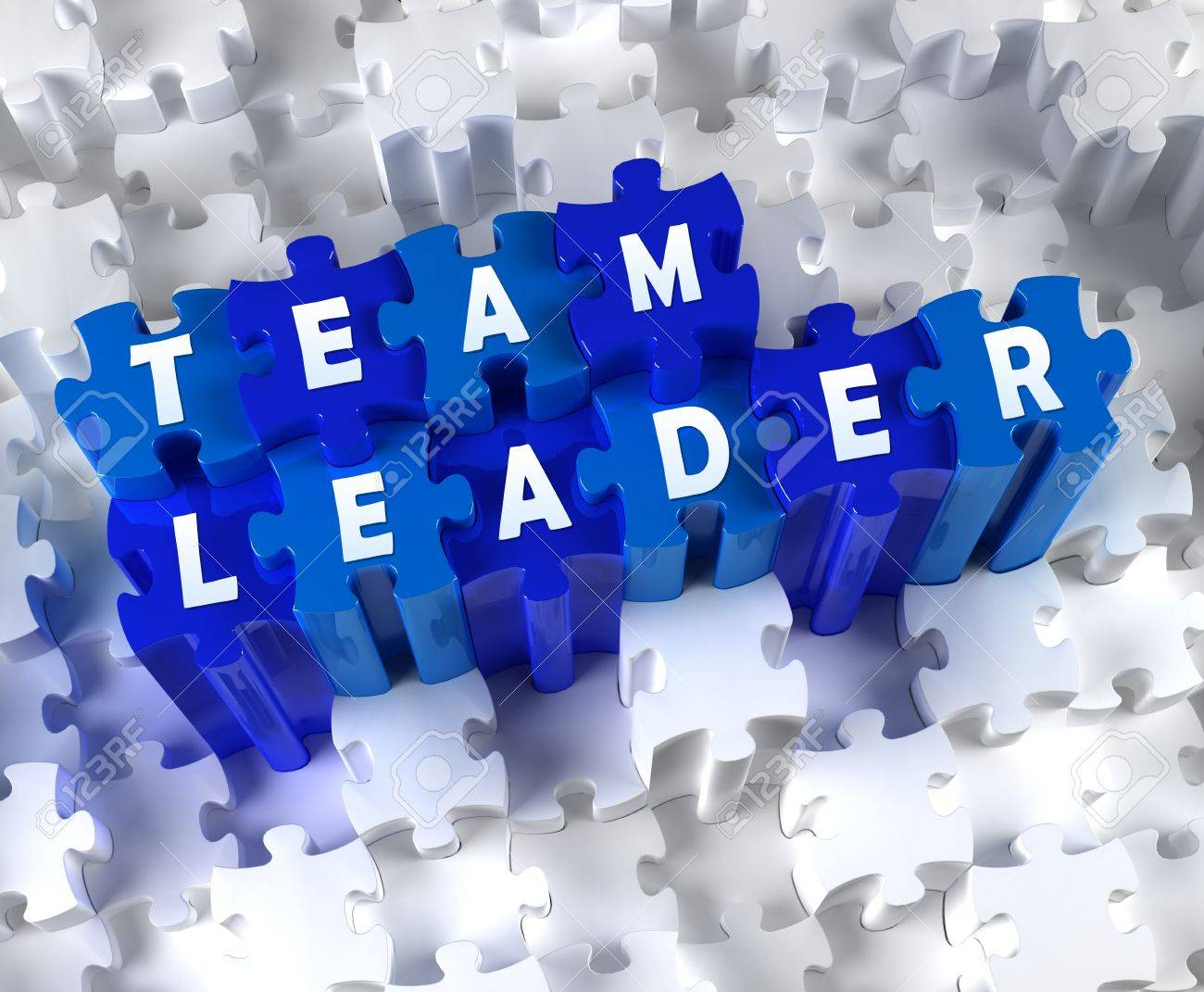 creative d pieces of puzzle and word team leader stock photo creative 3d pieces of puzzle and word team leader stock photo 18558276