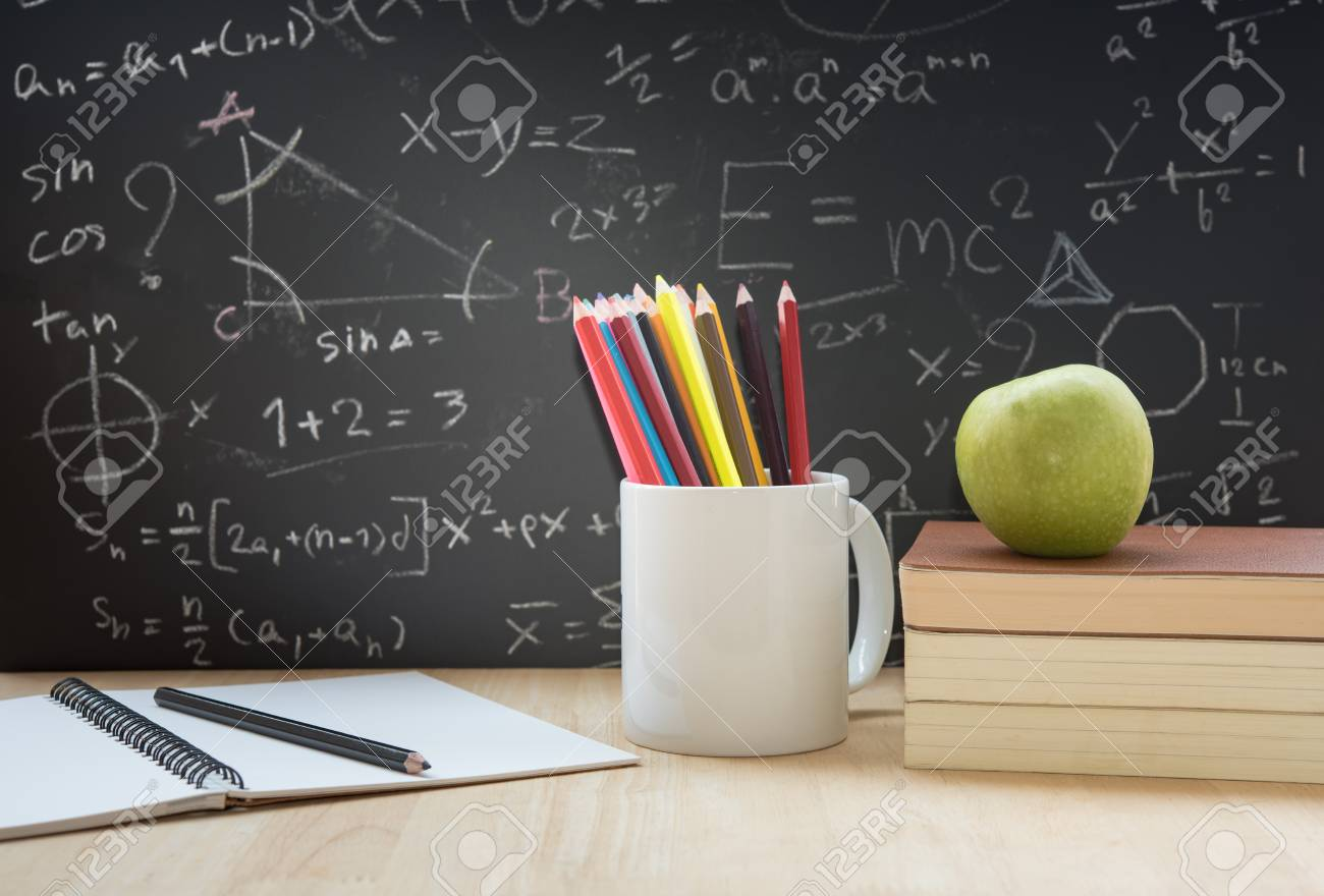 Education Element On Desktop And Back To School Background Stock Photo Picture And Royalty Free Image Image 63511881