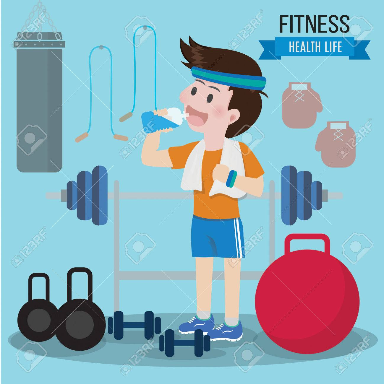 Gym health concept lifestyle  Can used for banner ,advertising,