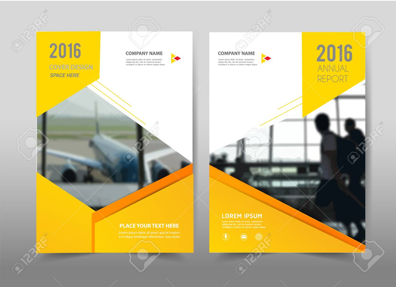 yellow design on background brochure template layout cover design