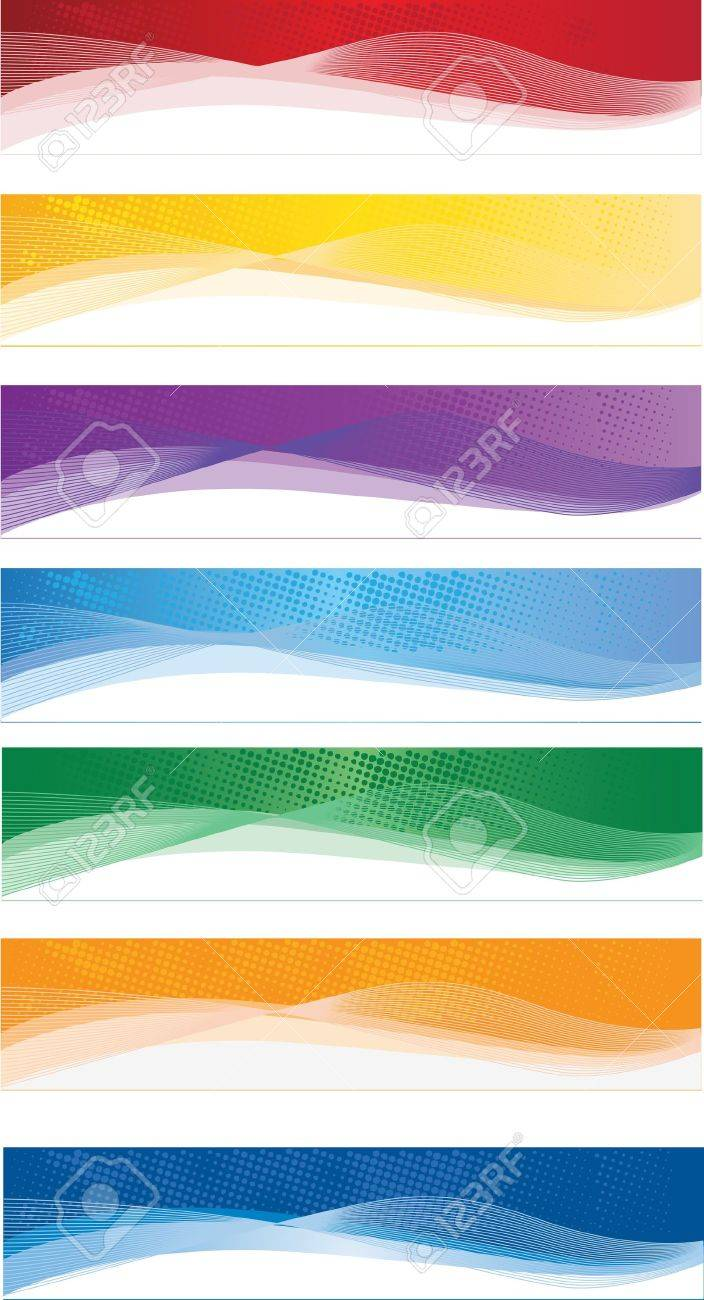A set of web banners of different colors Stock Vector - 15351037