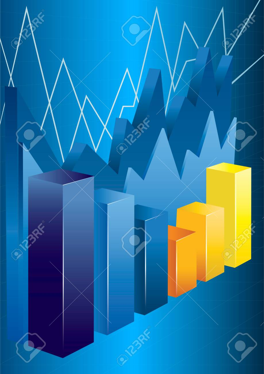 3d financial graph stat business background Stock Vector - 15934294