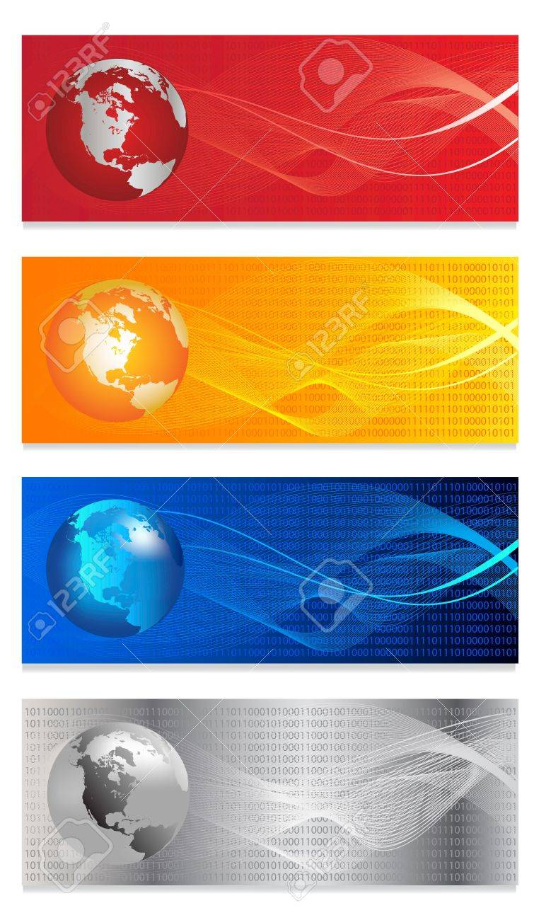 Headers width abstract  background for company style design Stock Vector - 17989830
