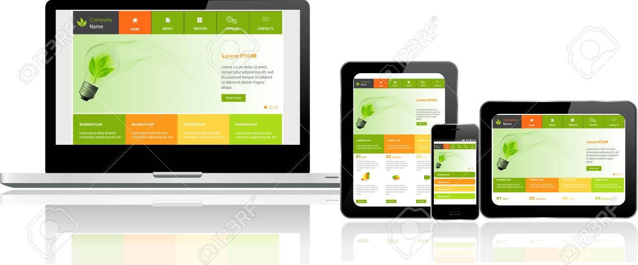 Responsive Templates | Responsive Website Templates Auf Mehreren Geraten Lizenzfrei