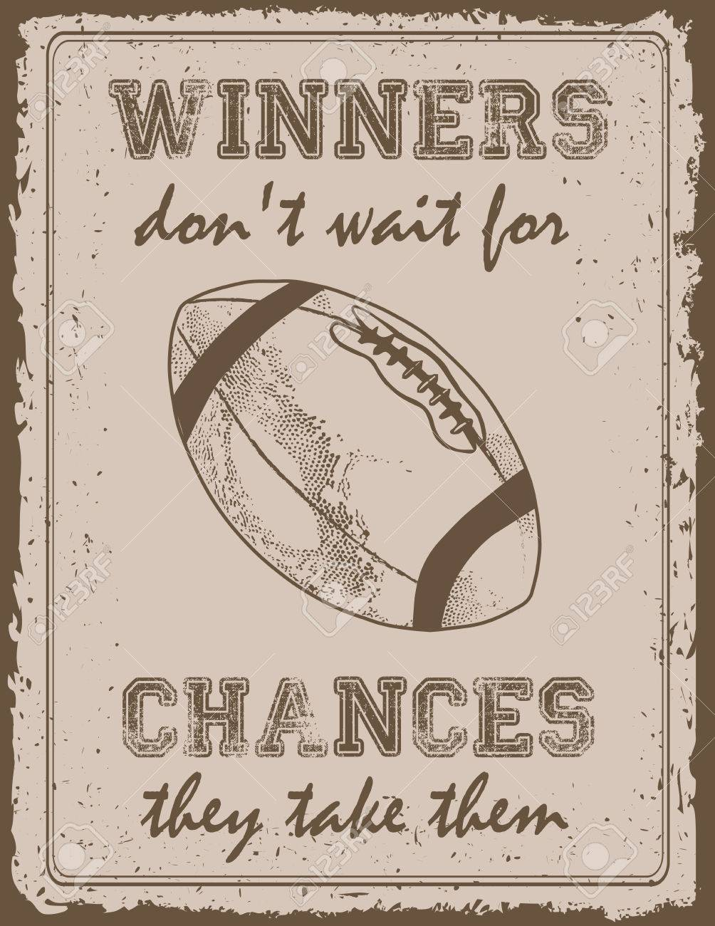 17d37331f600 Vector - Vintage sport poster with motivation quote old paper background