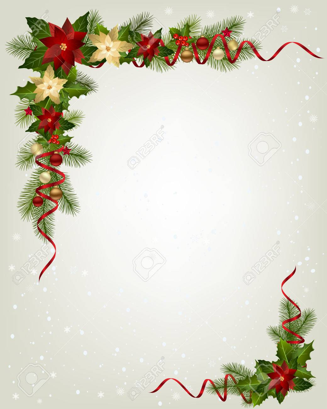 Christmas Garland With Fir Branches And Decorative Elements Royalty Free Cliparts Vectors And Stock Illustration Image 65451498