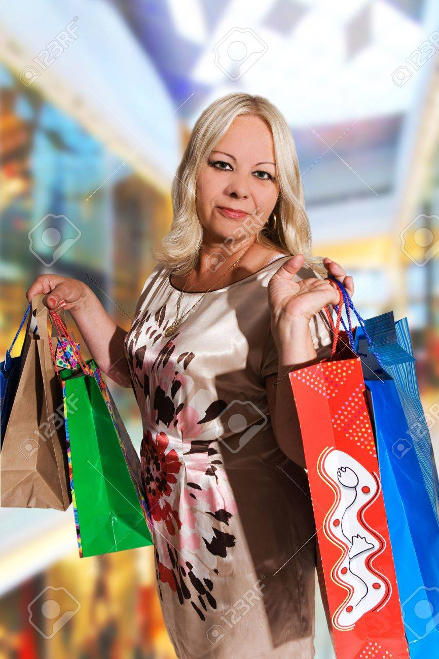 50 years old woman shopping Stock Photo - 5464470