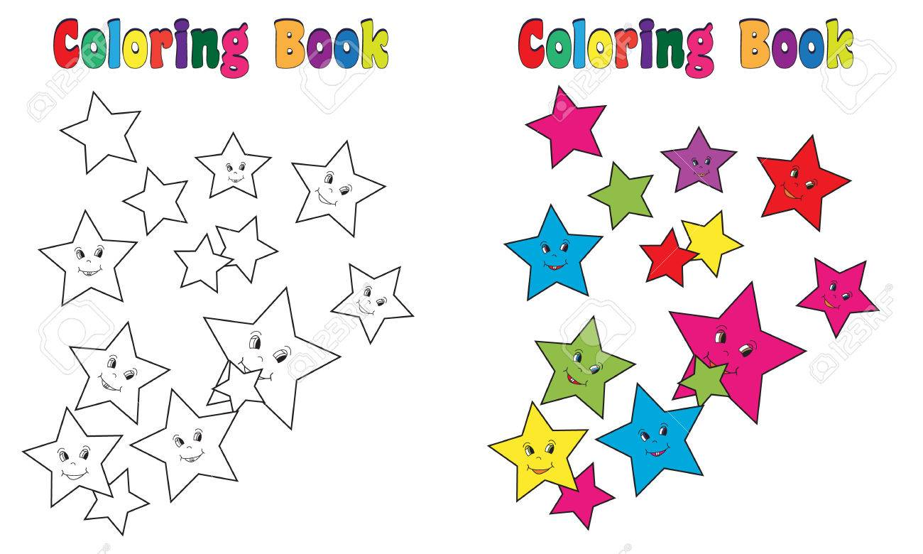 Coloring Book Stars Stock Photo, Picture And Royalty Free Image ...